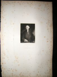After Joshua Reynolds C1830 Folio Mezzotint. Mr Brudenell
